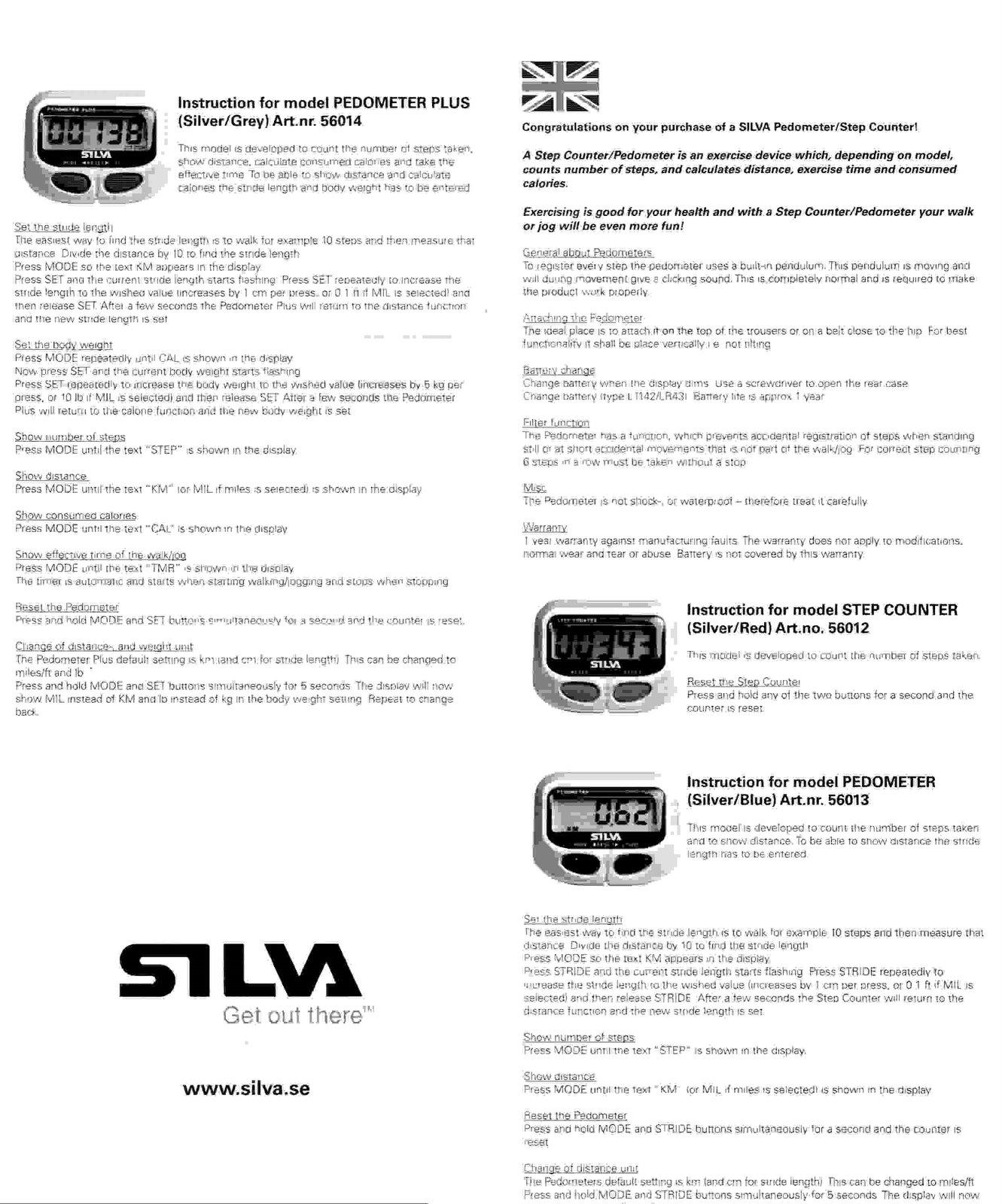 Silva ex30 manuals.
