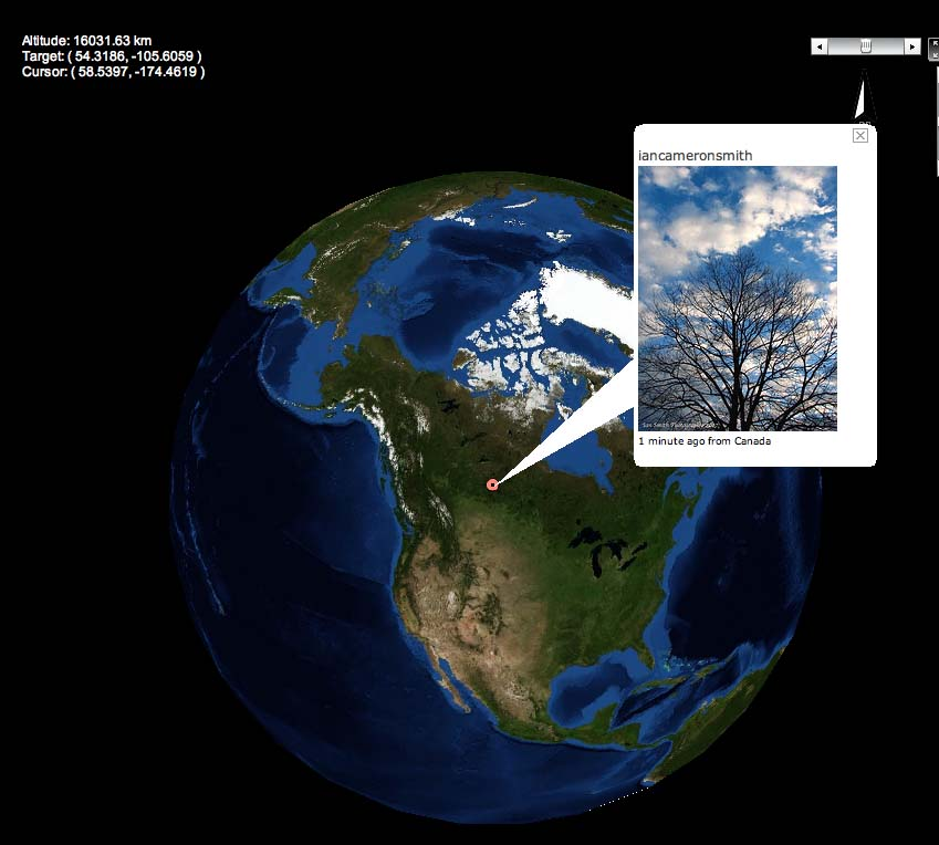 Flickrvision photos around the world