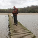 Geoff on the Gannel bridge