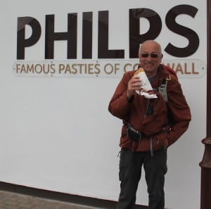 Geoff with Philps Cornish pasty