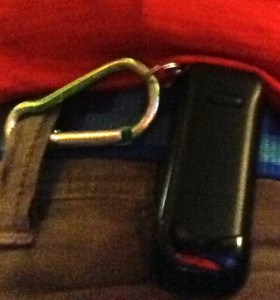 Fitbit with lanyard & carabiner