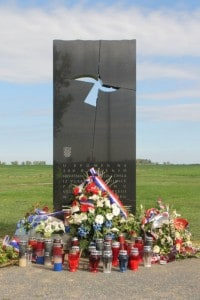 memorial at the mass burial pit