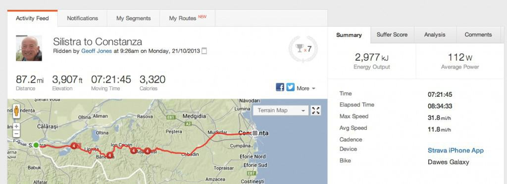 Strava_Ride___Silistra_to_Constanza