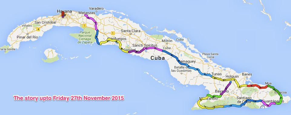 Adze image of my Cuba Bike Ride gpx traces