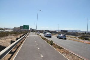 A cycleway in South Africa