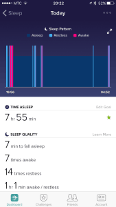 Fitbit sleep record