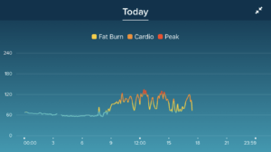 Todays heart rate according to the Blaze