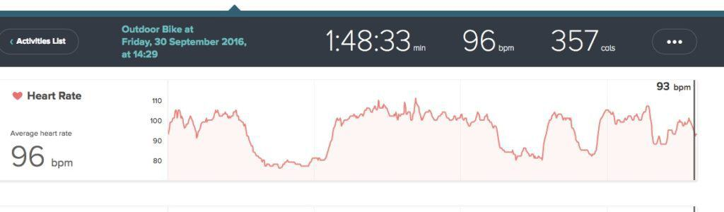 Heart rate for a bit of the day