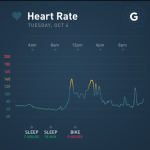 Heart rate for 4/10/16